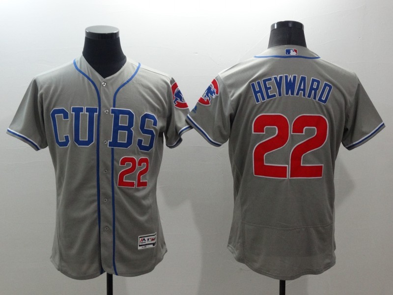 2016 MLB FLEXBASE Chicago Cubs 22 Heyward grey jerseys