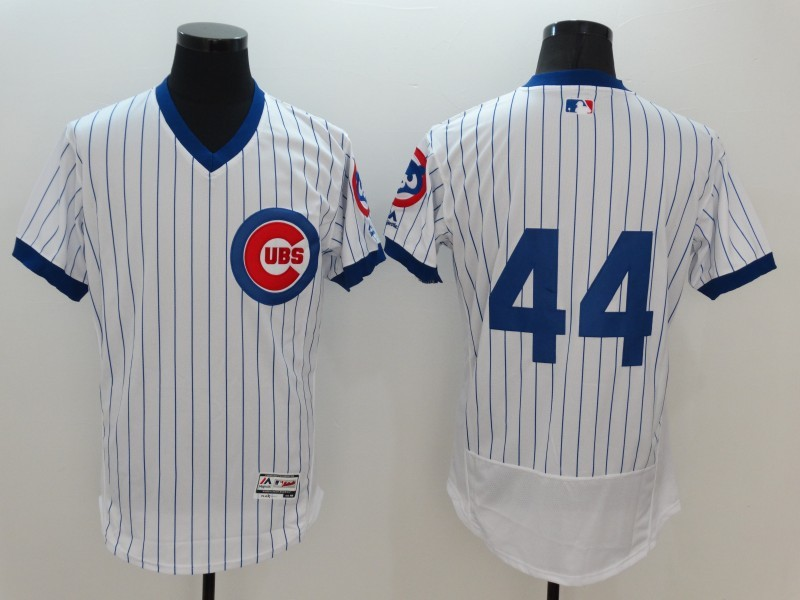 2016 MLB FLEXBASE Chicago Cubs 44 Anthony Rizzo White stripes Jerseys