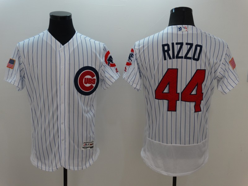 2016 MLB FLEXBASE Chicago Cubs 44 Rizzo White Fashion Jerseys