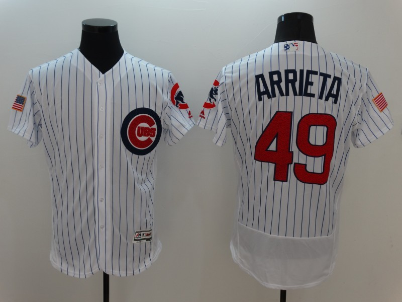 2016 MLB FLEXBASE Chicago Cubs 49 Arrieta Grey Elite Jerseys
