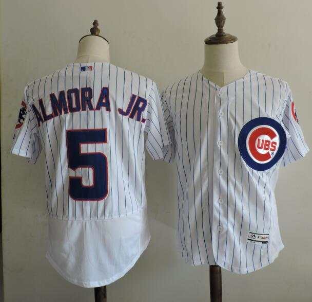 2016 MLB FLEXBASE Chicago Cubs 5 Almora JR stripe White Elite Jerseys