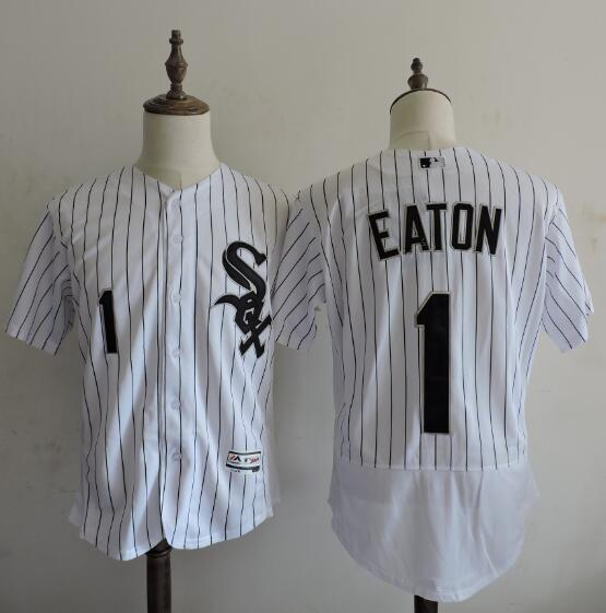 2016 MLB FLEXBASE Chicago White Sox 1 Adam Eaton stripe White Elite Jerseys