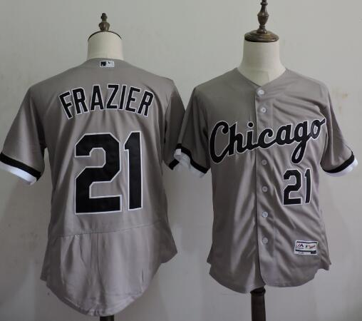 2016 MLB FLEXBASE Chicago White Sox 21 Todd Frazier Grey Elite Jerseys