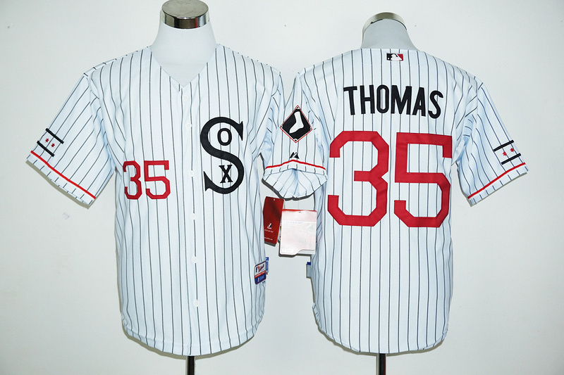 2016 MLB FLEXBASE Chicago White Sox 35 Thomas white jersey