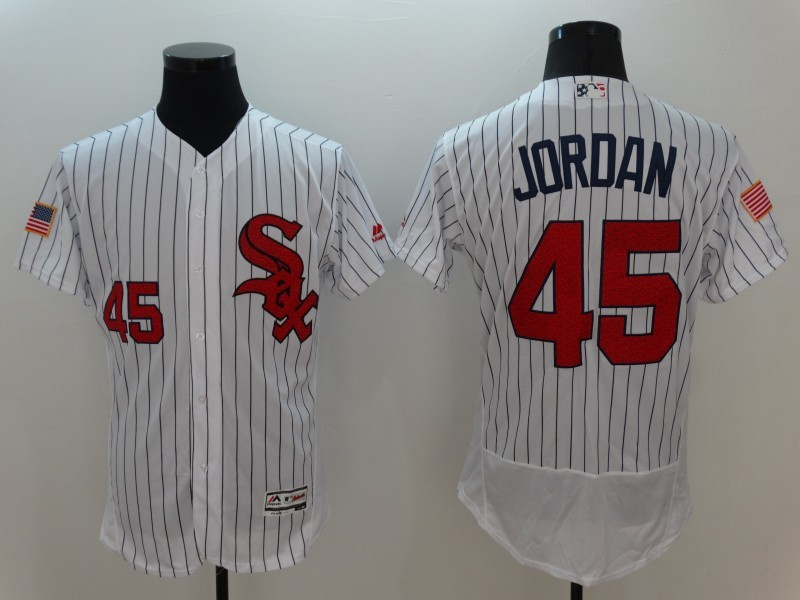2016 MLB FLEXBASE Chicago White Sox 45 Jordan White Fashion Jerseys