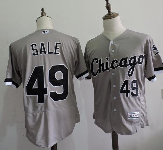 2016 MLB FLEXBASE Chicago White Sox 49 Chris Sale Grey Elite Jerseys