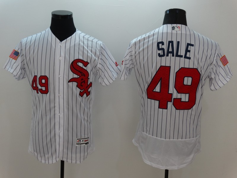 2016 MLB FLEXBASE Chicago White Sox 49 Sale White Fashion Jerseys