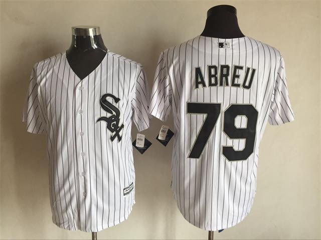 2016 MLB FLEXBASE Chicago White Sox 79 Abreu white jerseys