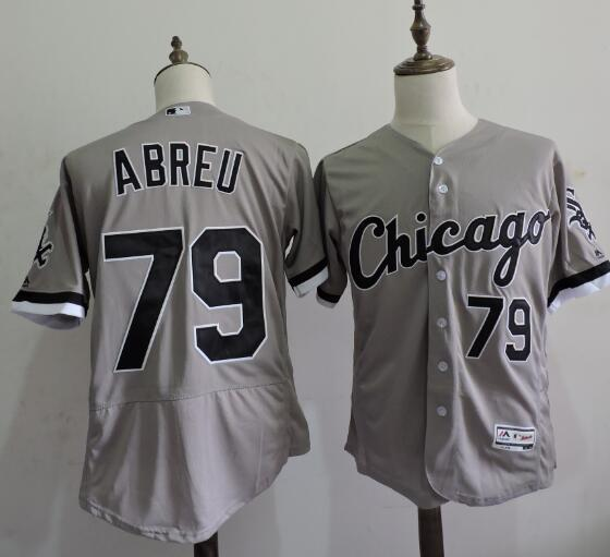 2016 MLB FLEXBASE Chicago White Sox 79 Jose Abreu Grey Elite Jerseys