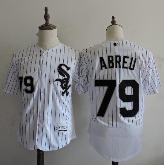 2016 MLB FLEXBASE Chicago White Sox 79 Jose Abreu stripe White Elite Jerseys