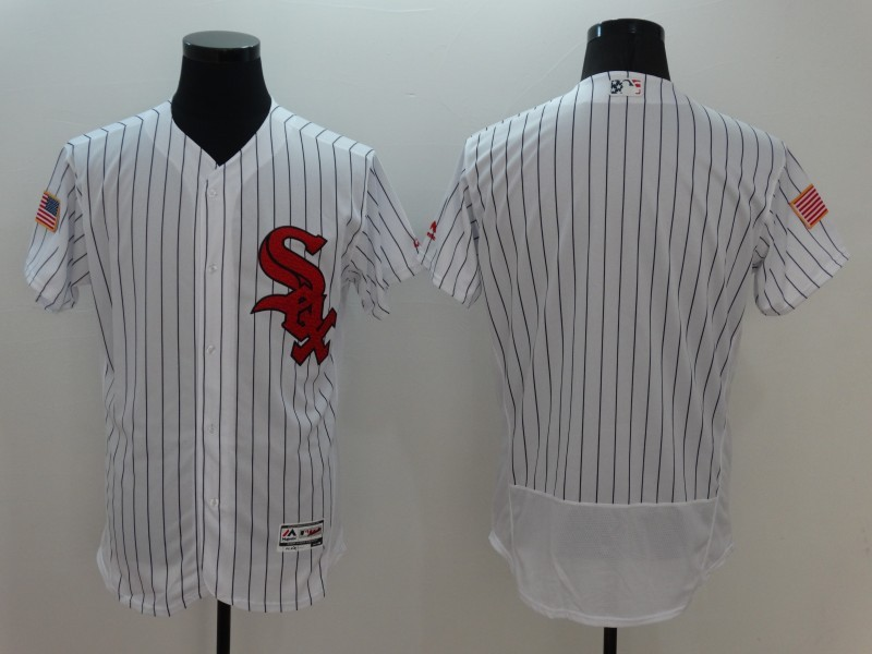 2016 MLB FLEXBASE Chicago White Sox Blank White Fashion Jerseys