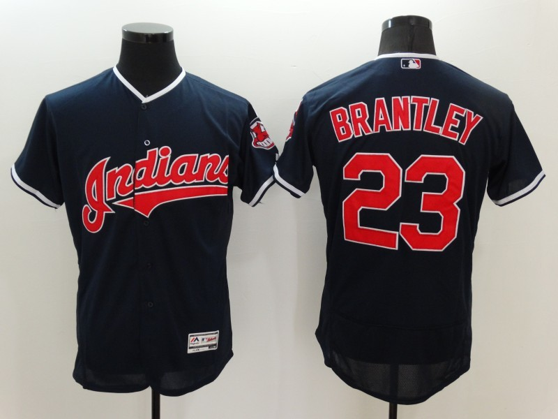 2016 MLB FLEXBASE Cleveland Indians 23 Brantley Blue Jerseys