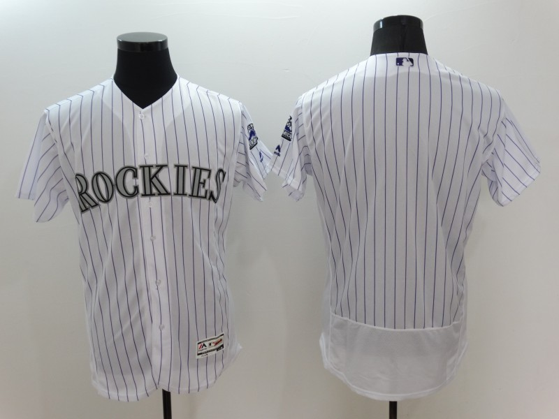 2016 MLB FLEXBASE Colorado Rockies Blank White Jersey