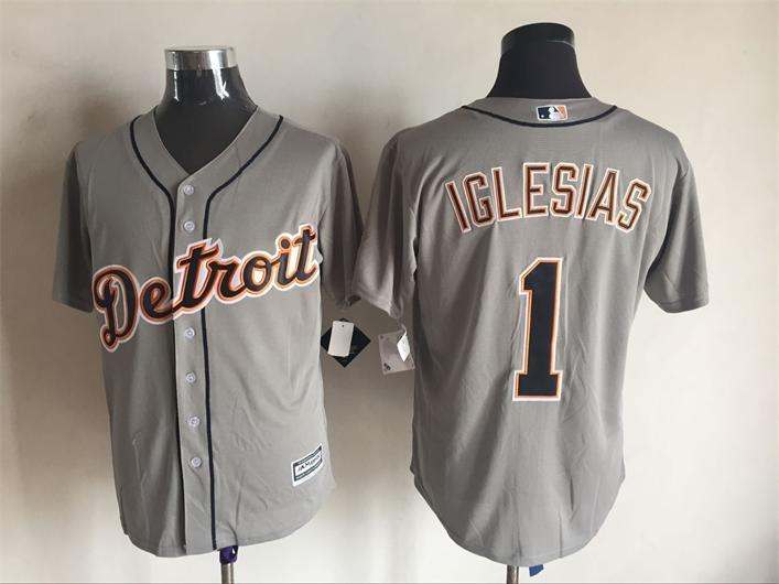 2016 MLB FLEXBASE Detroit Tigers 1 Iglesias grey jerseys