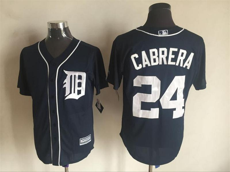 2016 MLB FLEXBASE Detroit Tigers 24 Carbrera blue jerseys