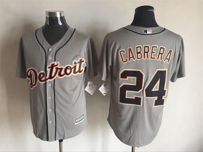 2016 MLB FLEXBASE Detroit Tigers 24 Carbrera grey jerseys