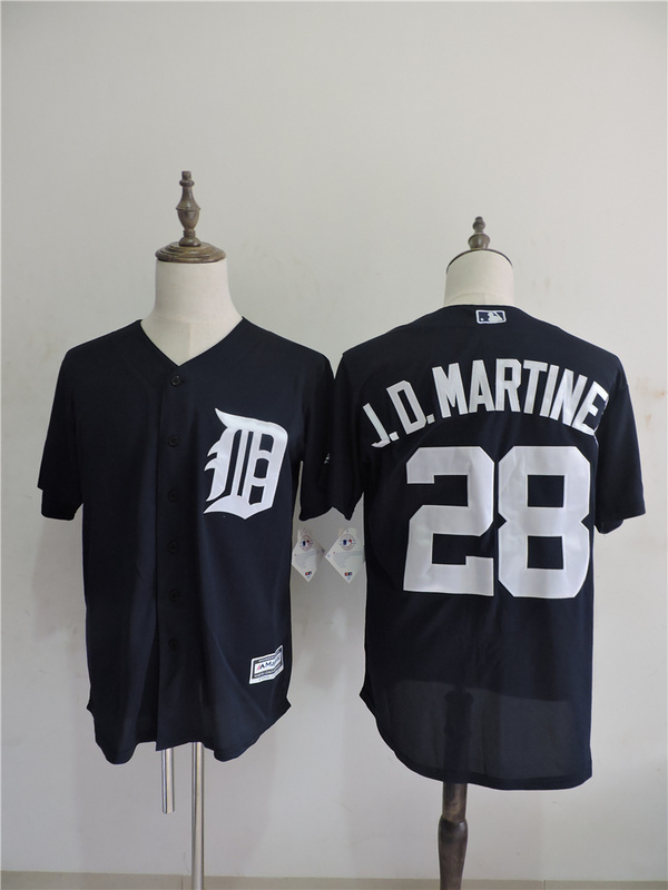 2016 MLB FLEXBASE Detroit Tigers 28 J.D.Martine Blue Jerseys
