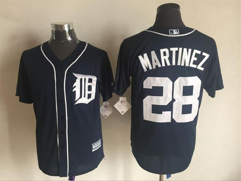 2016 MLB FLEXBASE Detroit Tigers 28 Martinez blue jerseys