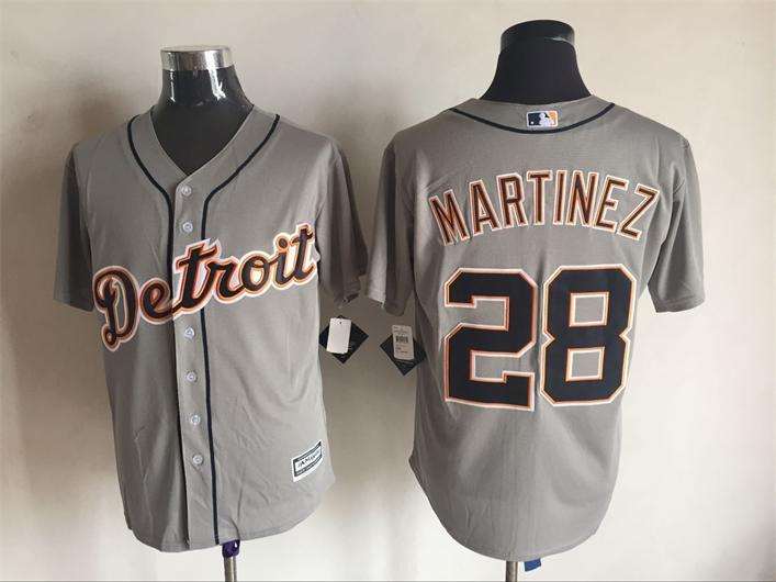 2016 MLB FLEXBASE Detroit Tigers 28 Martinez grey jerseys