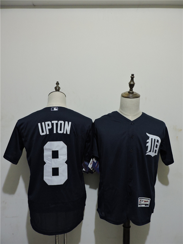 2016 MLB FLEXBASE Detroit Tigers 8 Upton Blue Elite Jerseys