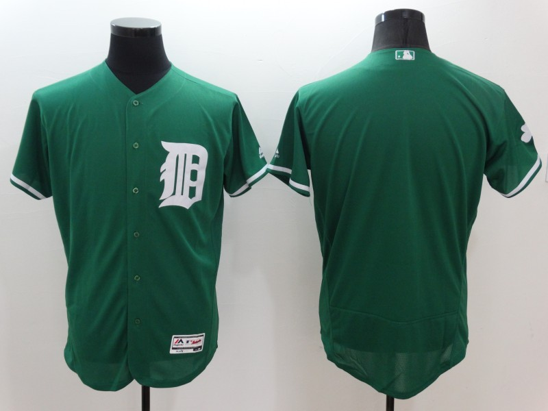 2016 MLB FLEXBASE Detroit Tigers Blank Green Jerseys