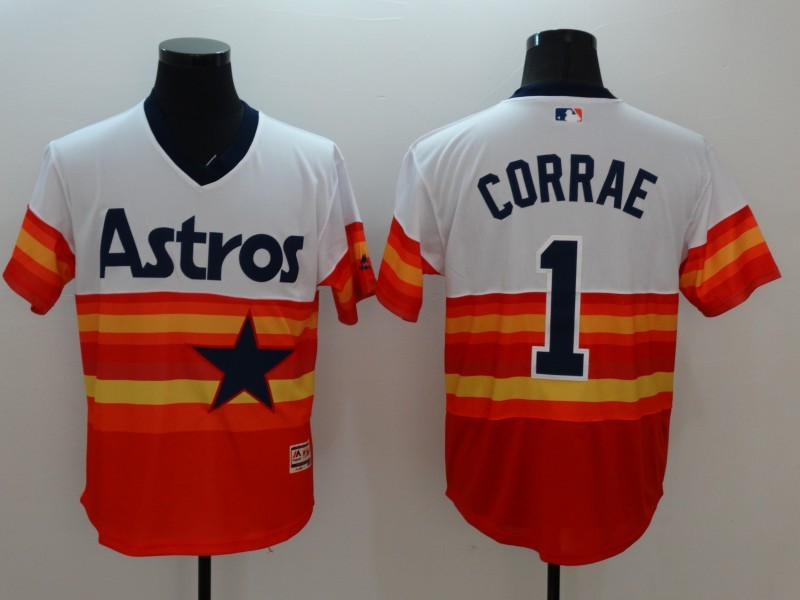 2016 MLB FLEXBASE Houston Astros 1 Carlos Correa 1979 Turn Back The Clock Jersey