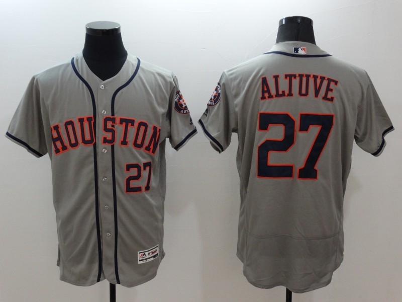 2016 MLB FLEXBASE Houston Astros 27 Altuve grey jerseys
