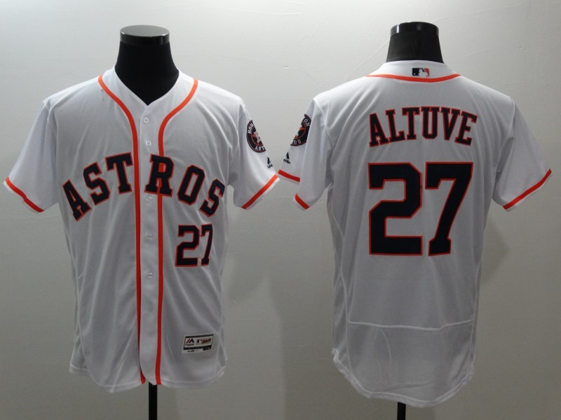 2016 MLB FLEXBASE Houston Astros 27 Altuve white jerseys