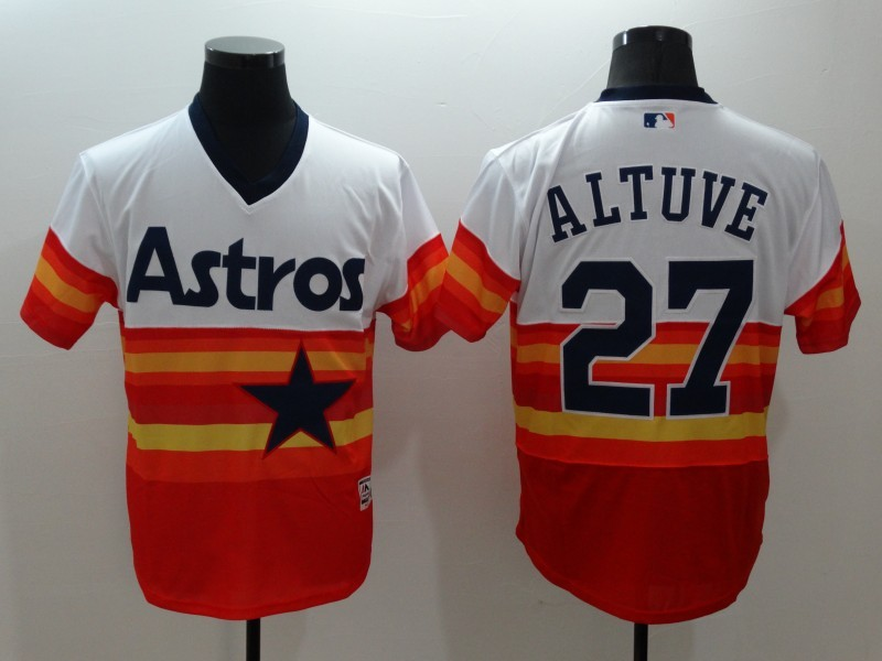2016 MLB FLEXBASE Houston Astros 27 Jose Altuve 1979 Turn Back The Clock Jersey