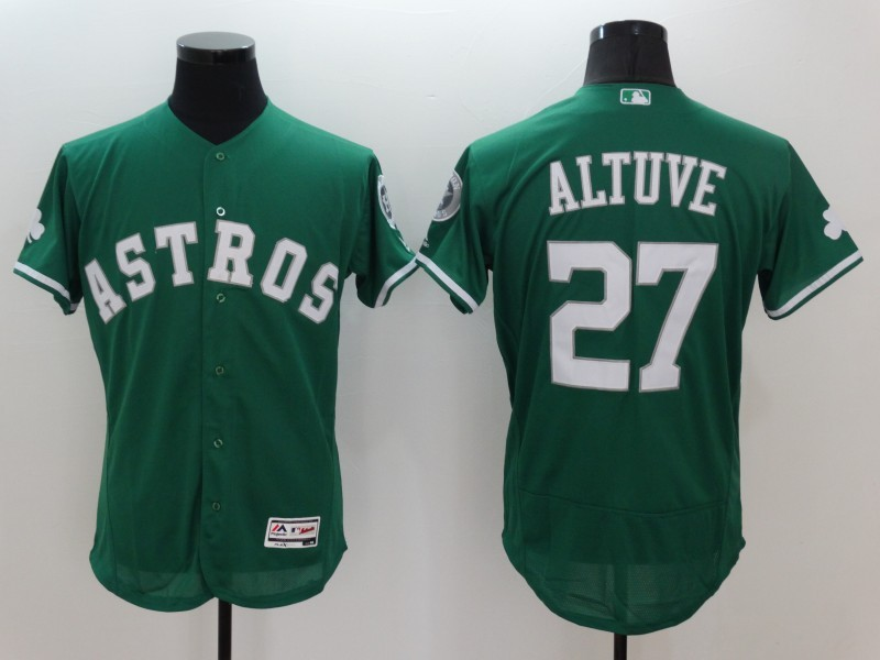 2016 MLB FLEXBASE Houston Astros 27 Jose Altuve Green Jerseys