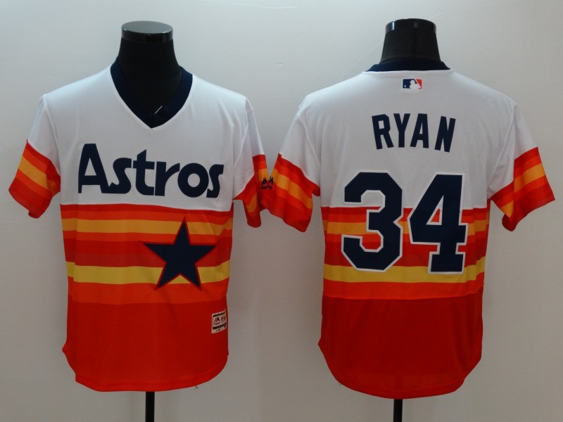 2016 MLB FLEXBASE Houston Astros 34 Nolan Ryan 1979 Turn Back The Clock Jersey