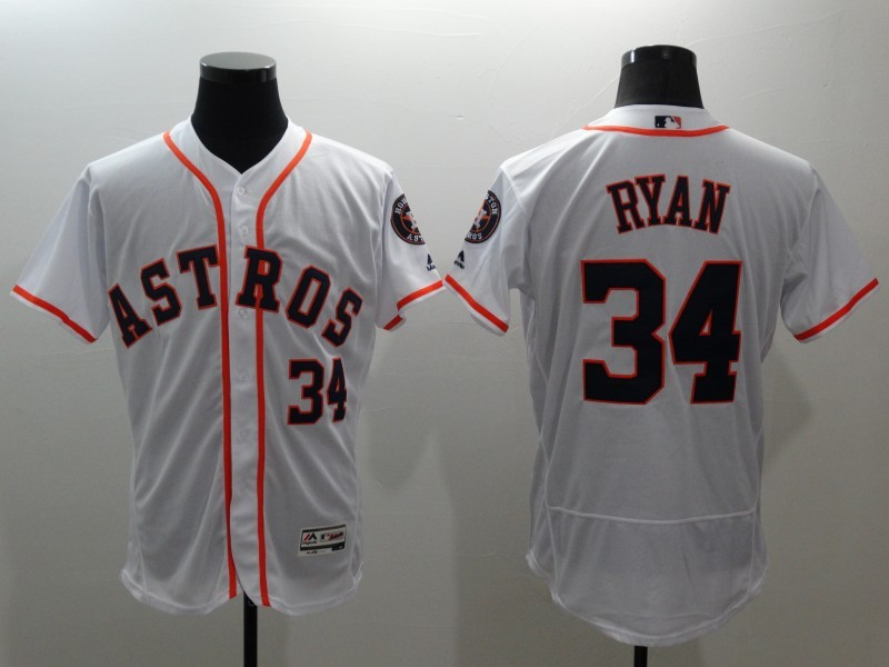 2016 MLB FLEXBASE Houston Astros 34 Nolan Ryan white jerseys