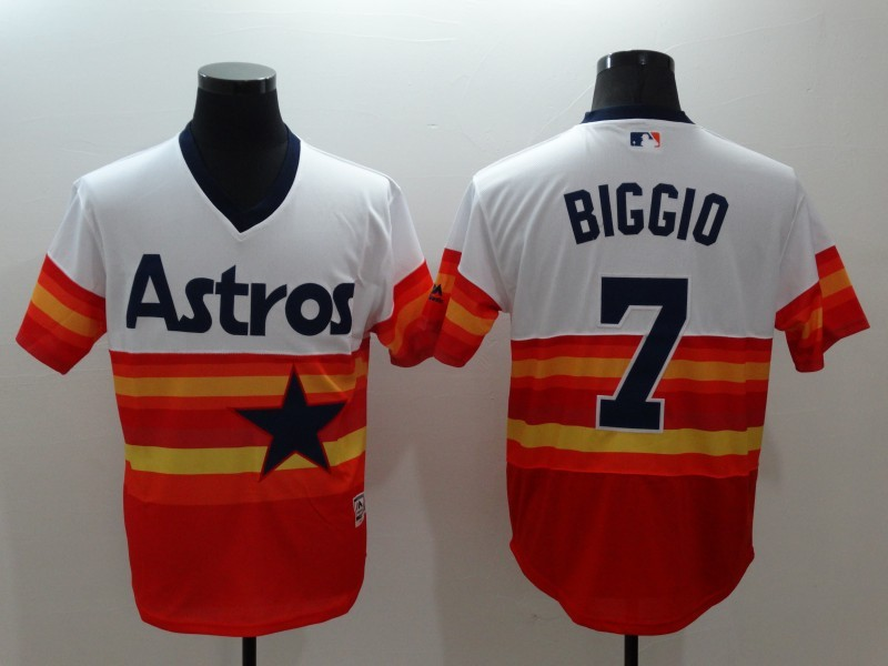 2016 MLB FLEXBASE Houston Astros 7 Craig Biggio 1979 Turn Back The Clock Jersey