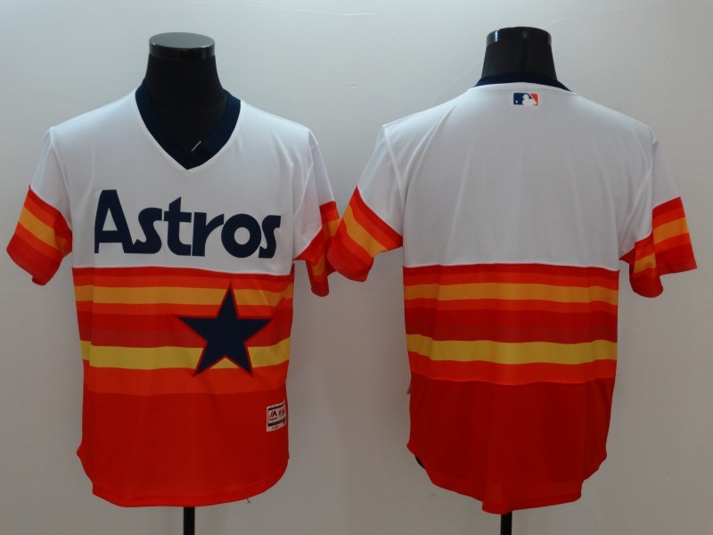2016 MLB FLEXBASE Houston Astros Blank 1979 Turn Back The Clock Jersey