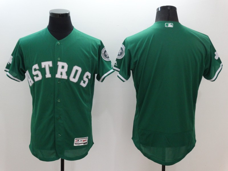 2016 MLB FLEXBASE Houston Astros Blank Green Jerseys