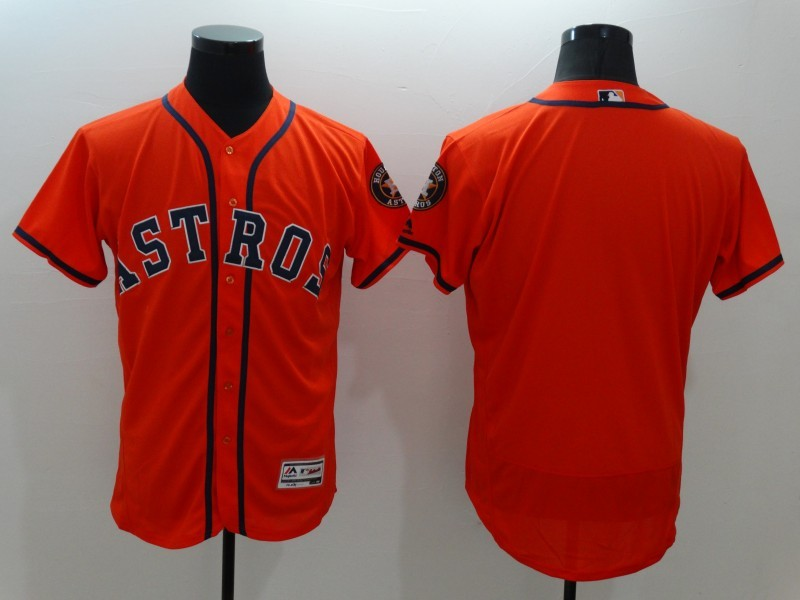 2016 MLB FLEXBASE Houston Astros Blank Orange Jersey