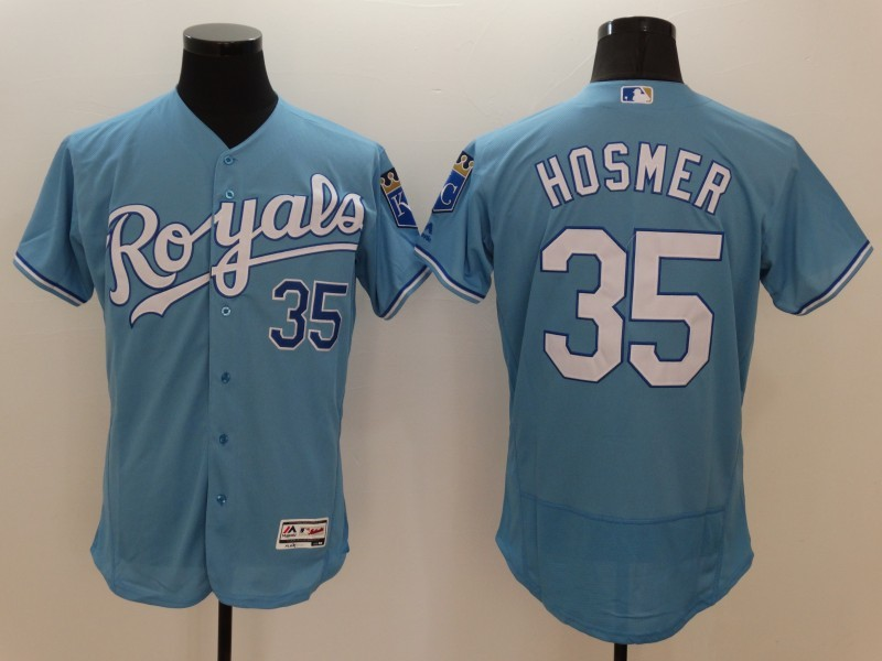 2016 MLB FLEXBASE Kansas City Royals 35 Eric Hosmer Light blue Jerseys