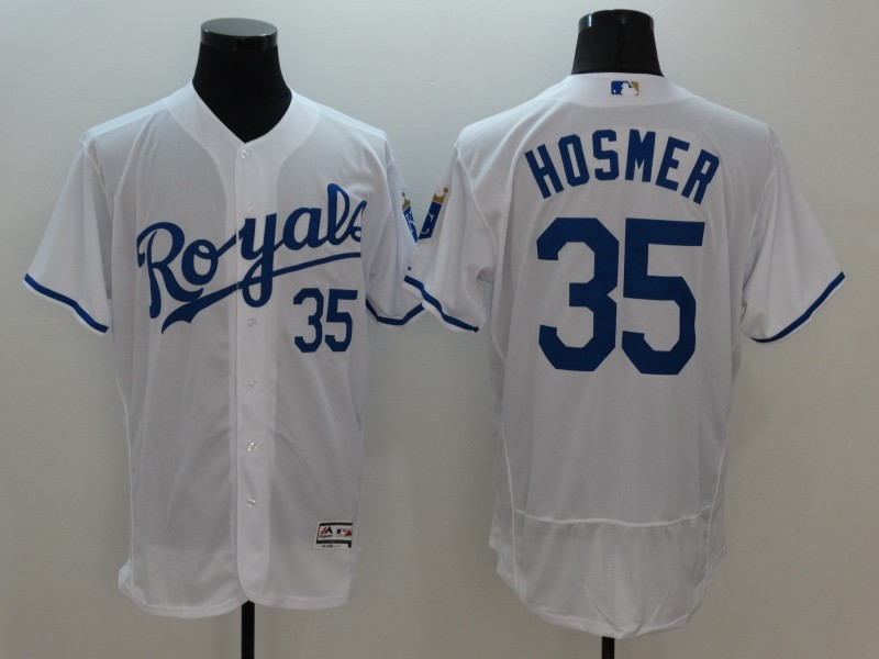 2016 MLB FLEXBASE Kansas City Royals 35 Hosmer White Jersey