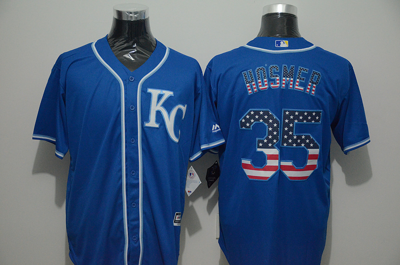 2016 MLB FLEXBASE Kansas City Royals 35 Hosmer blue jersey