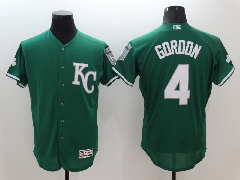 2016 MLB FLEXBASE Kansas City Royals 4 Alex Gordon Green Jerseys