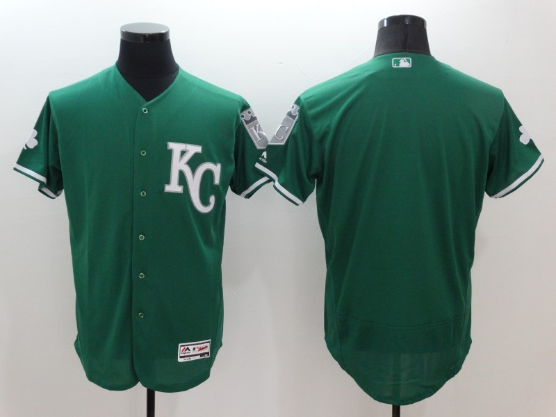 2016 MLB FLEXBASE Kansas City Royals Blank Green Jerseys