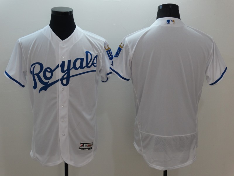 2016 MLB FLEXBASE Kansas City Royals Blank White Jersey