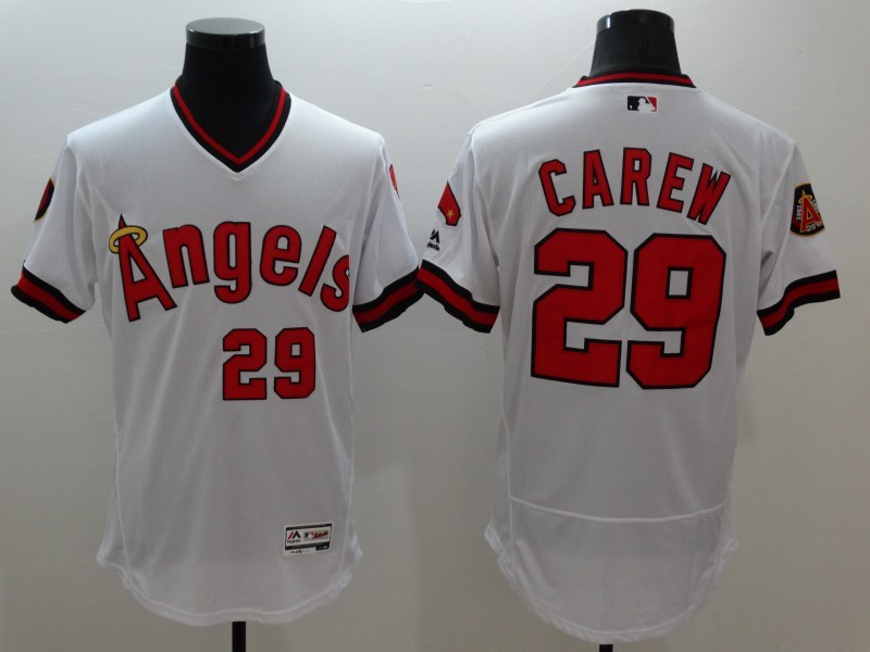 2016 MLB FLEXBASE Los Angeles Angels 29 Carew white jerseys