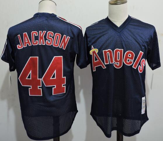 2016 MLB FLEXBASE Los Angeles Angels 44 Jackson Blue Throwback Elite Jerseys