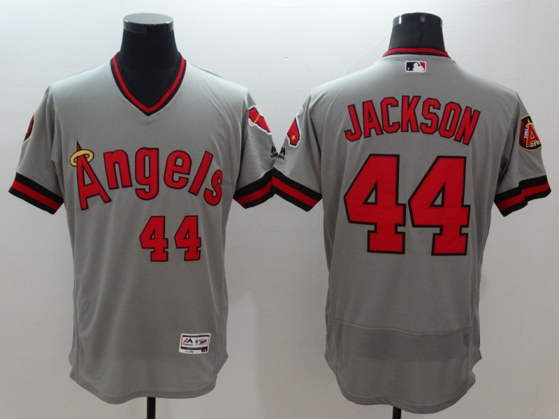 2016 MLB FLEXBASE Los Angeles Angels 44 Jackson grey jerseys