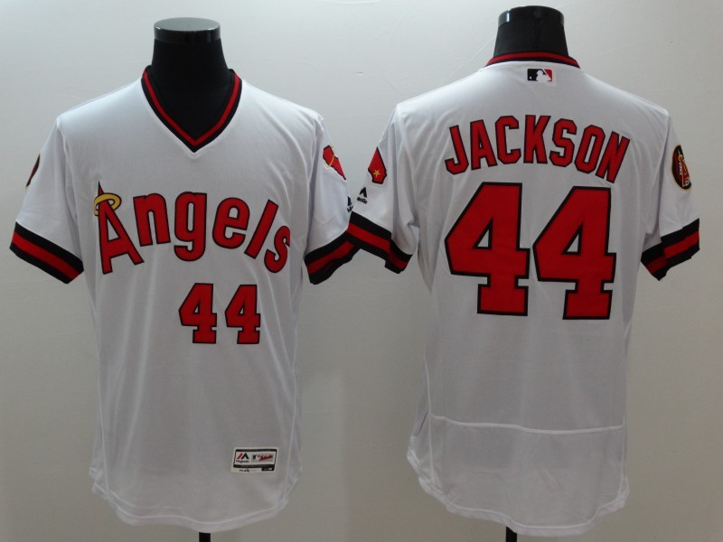 2016 MLB FLEXBASE Los Angeles Angels 44 Jackson white jerseys