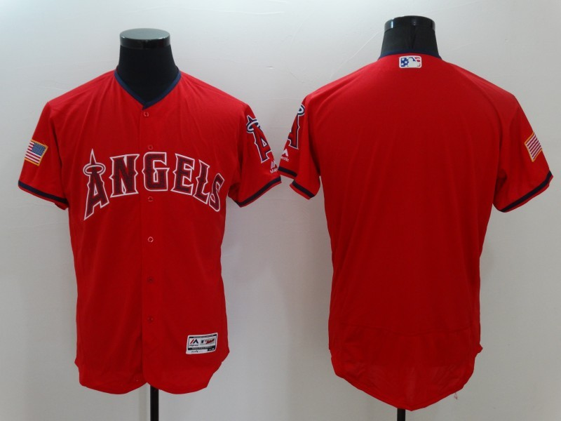2016 MLB FLEXBASE Los Angeles Angels Blank Red Fashion Jerseys