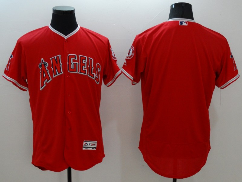 2016 MLB FLEXBASE Los Angeles Angels blank red jerseys
