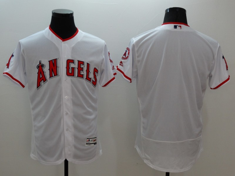 2016 MLB FLEXBASE Los Angeles Angels blank white jerseys