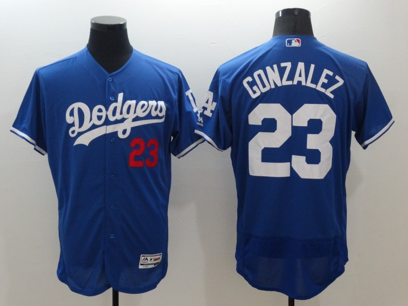 2016 MLB FLEXBASE Los Angeles Dodgers 23 Adrian Gonzalez Blue Jerseys